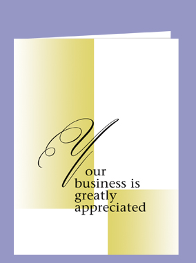 Your Business Is Greatly Appreciated-Abbott Cards
