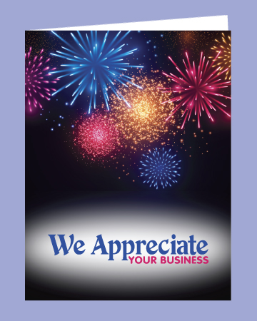 Thank you cards on white paper abbott cards for We appreciate your business cards